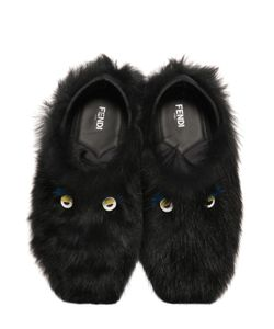 Fendi | Faces Fur Slippers
