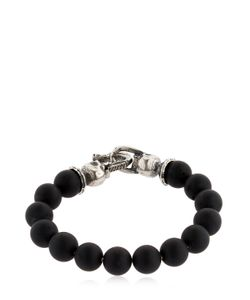Emanuele Bicocchi   Onyx Beads Sterling Bracelet