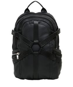 BIKKEMBERGS | Harness Waxed Cotton Canvas Backpack