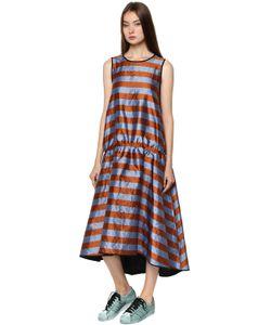 Odeeh | Shiny Striped Drop Waist Dress