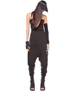 Demobaza   Baggy Cotton Jersey Strapless Jumpsuit