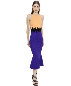 David Koma | Zigzag Stretch Jersey Dress