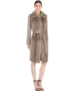 Salvatore Ferragamo | Wool Cashmere Coat With Mink Fur