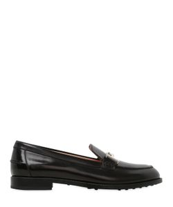 Tod's   10mm Double T Brushed Leather Loafers