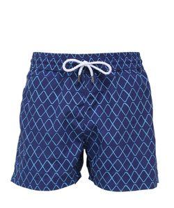 Frescobol Carioca   Traços Print Swim Shorts