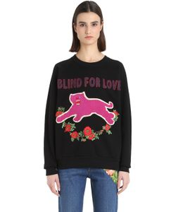 Gucci   Panther Embroide Cotton Sweatshirt