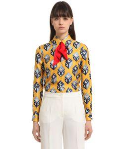 Gucci | Gg Wallpaper Print Silk Twill Shirt