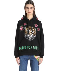 Gucci   Hooded Embroide Cotton Sweatshirt