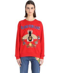 Gucci   Bee Embroide Cotton Sweatshirt