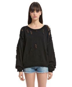 Unravel | Distressed Jersey Sweatshirt