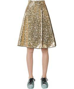 Odeeh | Lamé Silk Hearts Jacquard Skirt