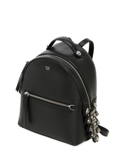 Fendi | Mini Leather Backpack W/ Crystals