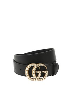 Gucci | 40mm Gg Marmont Pearl Buckle Belt