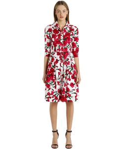 Samantha Sung | 3/4 Sleeve Stretch Cotton Shirt Dress