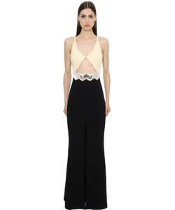 David Koma | Cutout Cady Gown With Mirrors