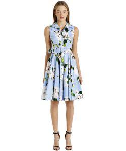 Samantha Sung | Sleeveless Stretch Cotton Shirt Dress