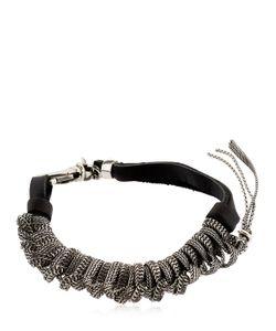 Emanuele Bicocchi   Sterling Leather Bracelet