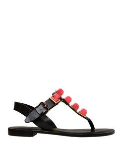 Tonya Hawkes | 10mm Gaia Resin Stones Leather Sandals