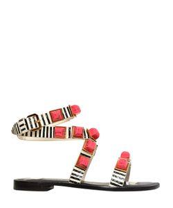 Tonya Hawkes | 10mm Dione Resin Stones Snake Sandals