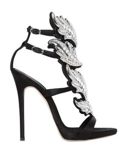 Giuseppe Zanotti Design | 120mm Swarovski Leaf Satin Sandals