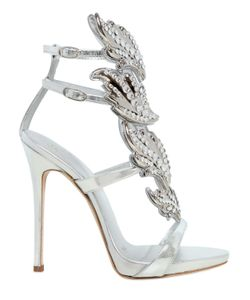 Giuseppe Zanotti Design | 120mm Leaf Swarovski Leather Sandals