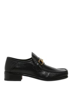 Gucci | 30mm Vegas Leather Horse Bite Loafers