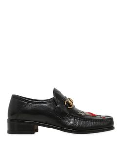 Gucci | Vegas Embroide Patch Leather Loafers