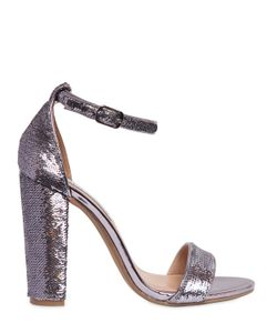 Steve Madden | 100mm Sequined Leather Sandals