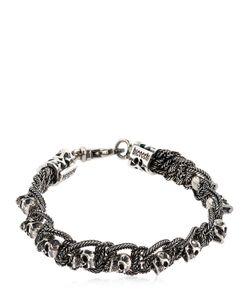 Emanuele Bicocchi   Skull Chain Sterling Bracelet