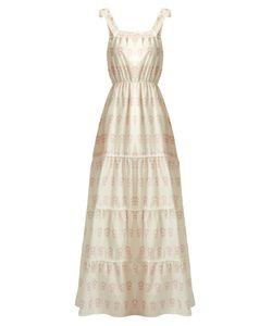 Athena Procopiou | Summer Morning Tie Cotton And Silk-Blend Dress