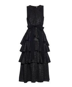 Erdem | Luzia Daisy-Brocade Ruffled Dress