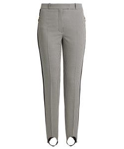 Nina Ricci | Hounds-Tooth Cotton And Silk-Blend Trousers