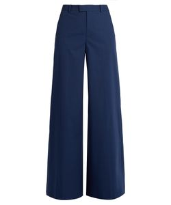 RED Valentino | Wide-Leg Cotton-Blend Trousers