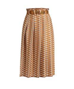 Issey Miyake   Facet Geometric Bonded-Appliqué Skirt