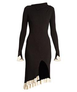 ESTEBAN CORTÁZAR   Funnel-Neck Ribbed-Knit Dress