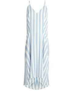 Balenciaga   Striped Cady Slip Dress