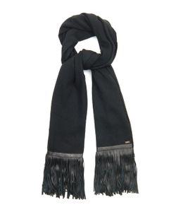 Melt | Govinda Leather-Fringed Wool Scarf