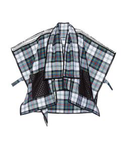 Danielle Romeril   Odoshi Shelter Tartan-Check Wool Poncho