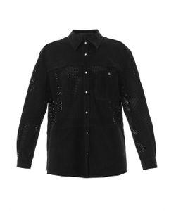 Anne Vest | Perforated Suede Shirt