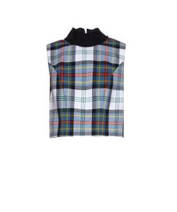Danielle Romeril   Evelyn Tartan-Check Wool Top
