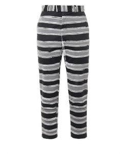 Agi & Sam | Reflective-Stripe Cotton Trousers