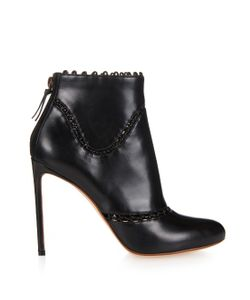 Francesco Russo   Cut-Out Leather Ankle-Boots