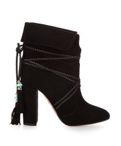 Aquazzura   X Poppy Delevingne Moonshine Ankle Boots