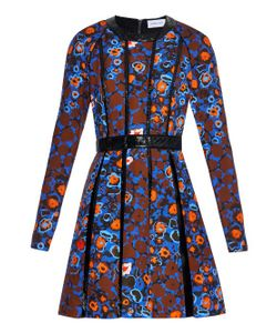 Caterina Gatta | Abstract Flower-Print Pleated Dress