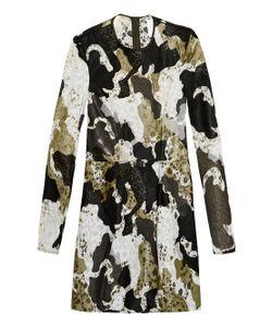 Danielle Romeril   Camouflage-Effect Appliqué And Lace Dress