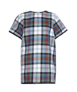 Danielle Romeril   Tartan-Check Wool Mini Dress