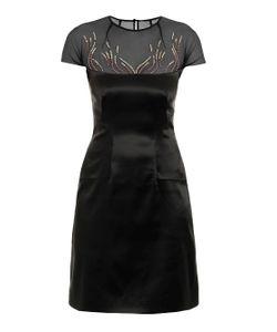 Marios Schwab | Embroidered Stretch-Satin Dress