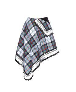 Danielle Romeril   Dani Tartan-Check Wool Wrap Skirt