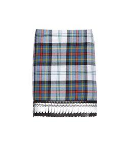 Danielle Romeril   Alicia Tartan-Check Wool Mini Skirt