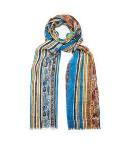 Etro | Paisley-Print Striped Silk Scarf